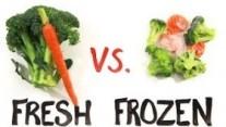 Fresh vs. Frozen Food