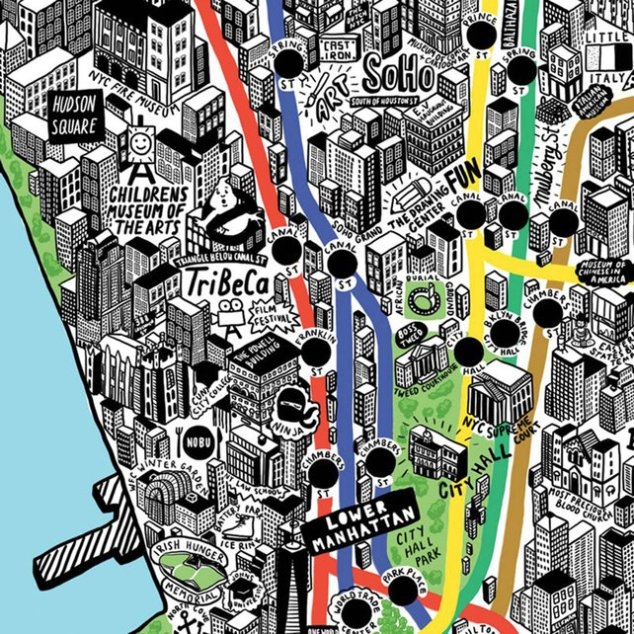 Jenni Sparks' Illustrated Map of New York