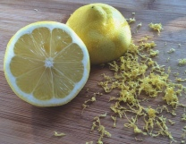 Lemon with zest
