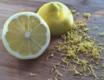 Lemon with zest