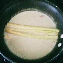 Lemongrass and Ginger infusing the Curry Base