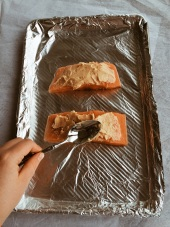 Spreading Miso Butter on Salmon | Cooking With Bells ON