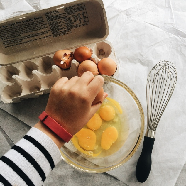 Cracking Eggs for a Frittata