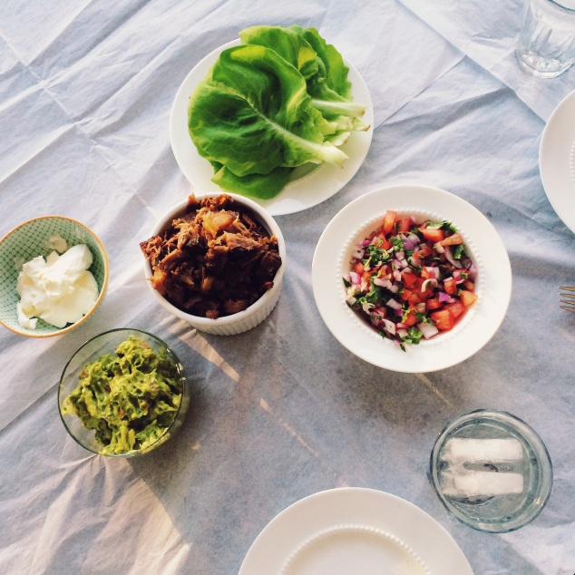 Coffee-Chipotle Braised Beef Shank Lettuce Cup Tacos  Cooking With Bells On
