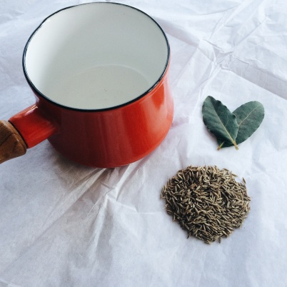 Cumin Seeds and Bay Leaves