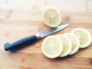 Sliced lemons