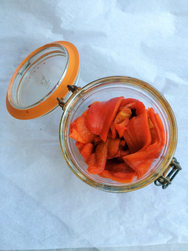 Charred and Peeled Red Bell Pepper | Cooking With Bells On