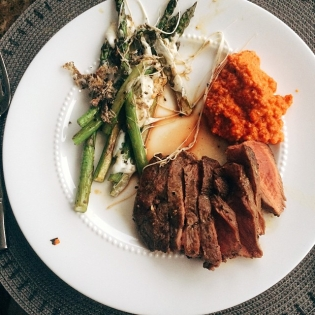 Steak with Romesco Dinner | Cooking With Bells On